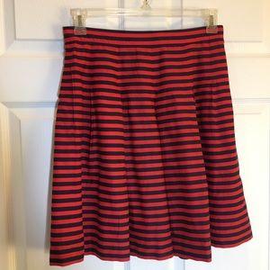 J. CREW Striped Flare Skirt Size 4